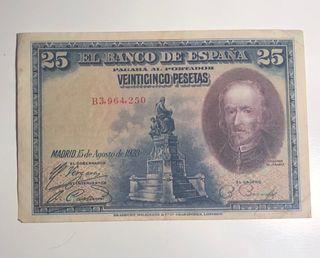 Billete 25 pesetas de 1928