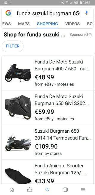 Lote accesorios Suzuki Burgman 650