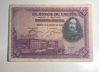 Billete 50 pesetas de 1928