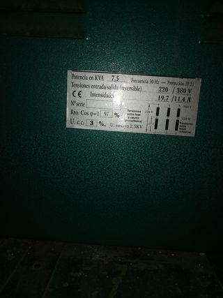 trasformador de 220 a 380