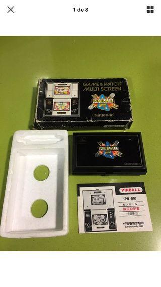 Game watch Nintendo Pinball tipo casio,sega,bandai,gakken,