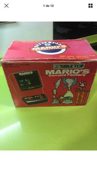 Table top game watch Mario Cement's Nintendo play,sega,ness,tiger,casio,bandai,gakken,