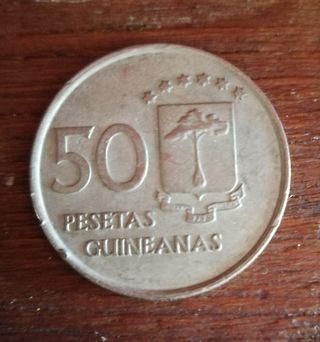 50 pesetas de 1969 de Guinea Ecuatorial