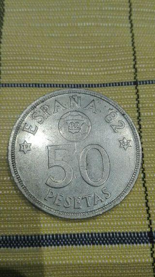 50 pesetas 1980 (grabado del mundial del 82)