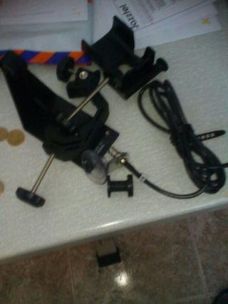 Soporte de gps y cables de conection para bar cos