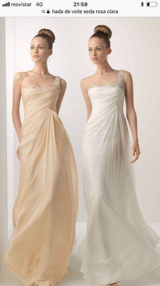 vestido de novia rosa clara de segunda mano en barcelona en wallapop