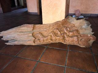 Tronco de madera antiguo