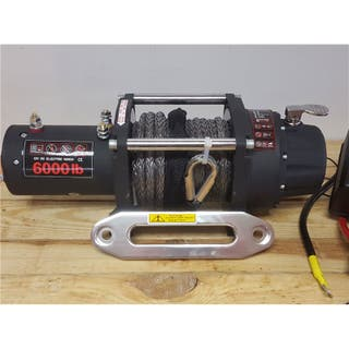 Winch 6000lbs 12v cable sintético