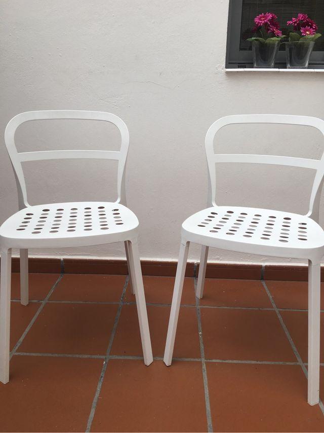 Sillas blancas ikea de segunda mano por 35 en las palmas for Sillas de exterior ikea