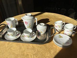 Vajilla, café, juego de té, San Claudio Oviedo