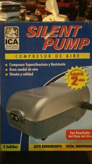 Compresor de aire para acuario o estanque