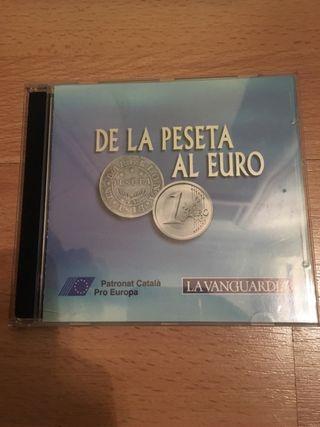 Coleccion monedas de la peseta al euro plata