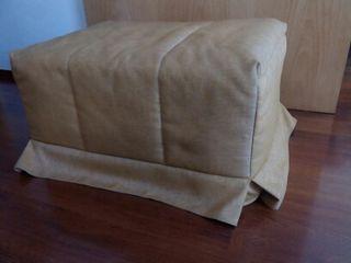 Puff cama plegable, bimba naranja, 80 cm