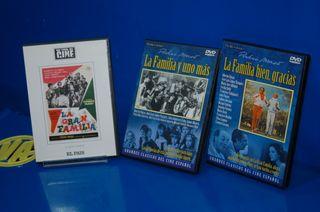 Pelicula lote 3 DVD-LA GRAN FAMILIA buen estado