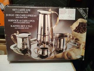 Juego de café 5 piezas acero inoxidable
