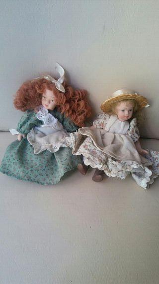 Muñecas porcelana pequeñitas