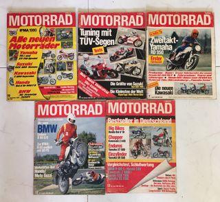Revistas motorrad años 80