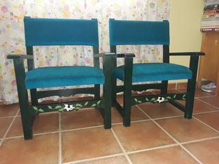 pareja de sillones bajos