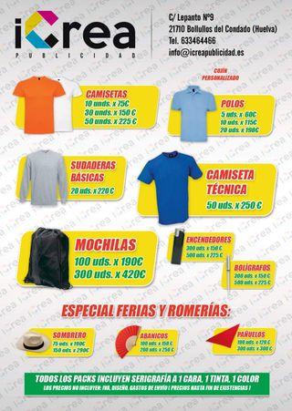 Camisetas, polos, sudaderas personalizadas