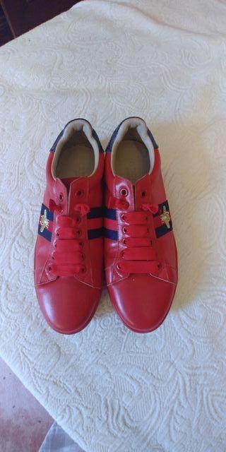 "sneakers piel ""gucci"""