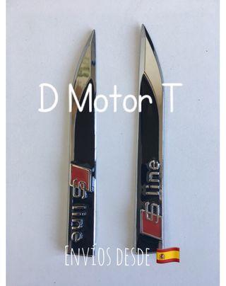 Set 2 Emblemas aletas Sline Audi