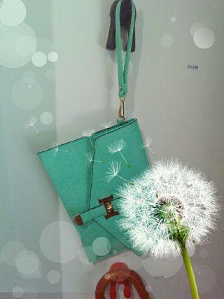 Bolso verde mar