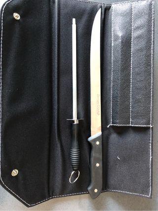 cuchillo jamonero y afilador