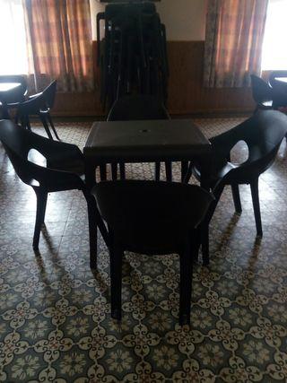 mesas y sillas para terrazas de bar