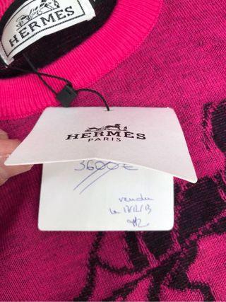 Jersey punto unisex Hermès Paris talla S-M