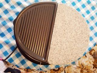 plancha de cocina con piedra de mármol electrica