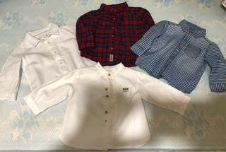 4 camisas bebé 3-6 meses