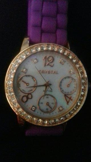 Reloj crystal de pulsera para mujer