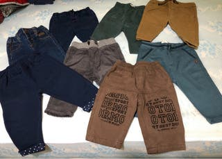 8 pantalones bebé 3-6 meses