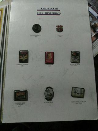 colección pins historicos barça