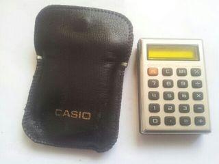 Calculadora casio micro-mini con funda