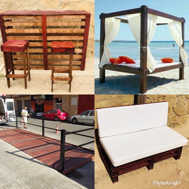 Muebles tarimas barras para jardin y terraza de segunda - Muebles de jardin en barcelona ...