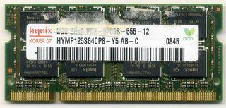 Memoria RAM 2 Gb. Hynix HYMP 125S64CP8-Y5 AB-C