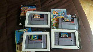 Super Nintendo o super famicom con 4 juegazos