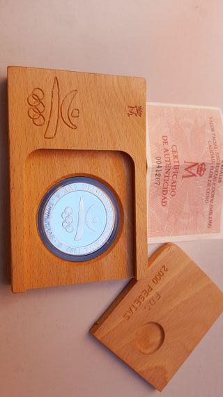 Moneda de plata BCN92 de 2.000 pesetas