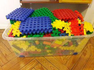 Caja de piezas de construcción niños