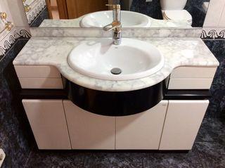 Mueble baño, lavabo y espejo