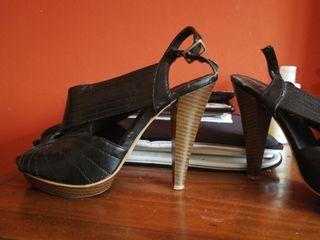 zapato tacon abierto