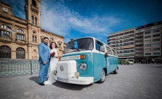 Alquiler de volkswagen t2 boda furgoneta hippie 70
