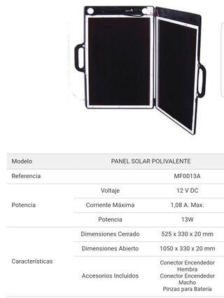 panel solar portatil 12v
