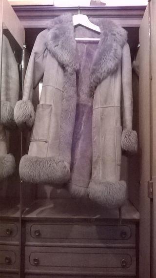 Abrigo vintage piel