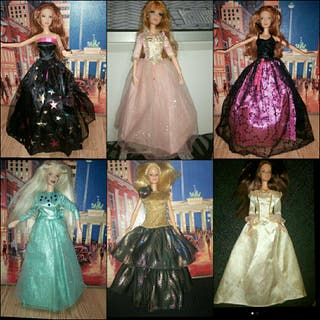 vestidos de Barbie