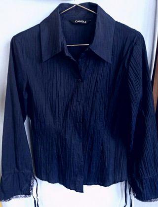 Blusa azul Marca Caroll mujer
