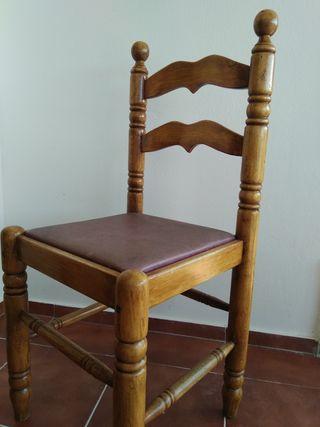 4 sillas macizas