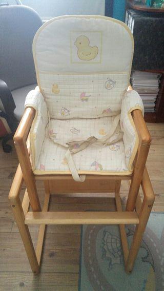 trona de bebe madera