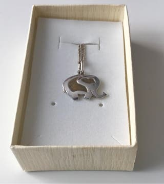 Collar/ colgante de plata Elefante